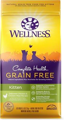 Wellness Complete Health Natural Grain-Free Deboned Chicken & Chicken Meal Dry Kitten Food, 5.5-lb bag