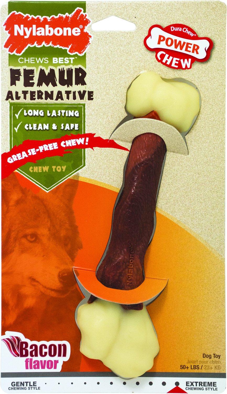 Nylabone DuraChew Femur Bacon Flavored Bone Alternative Dog Chew Toy, Giant