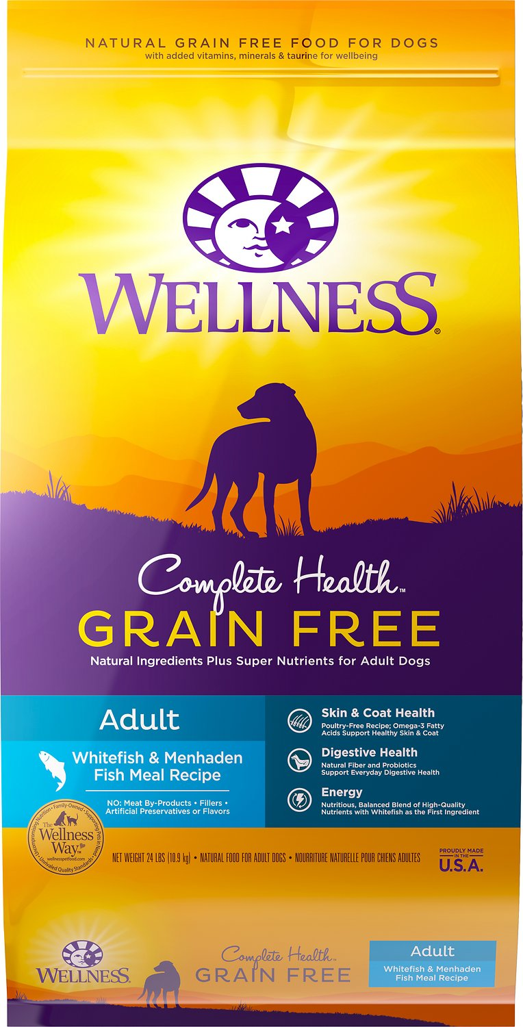 Wellness Grain-Free Complete Health Adult Whitefish & Menhaden Fish Meal Recipe Dry Dog Food Image