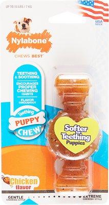 Nylabone Puppy Chew Ring Bone Chicken Flavor Dog Toy, X-Small
