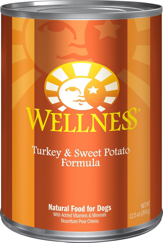 Wellness Complete Health Turkey & Sweet Potato Formula Canned Dog Food, 12.5-oz