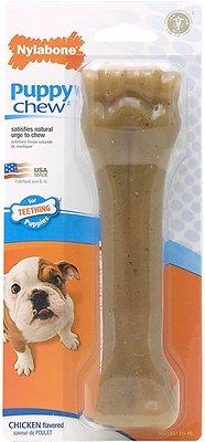 Nylabone Puppy Chew Bone Chicken Flavor Dog Toy, X-Large
