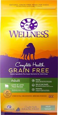 Wellness Grain-Free Complete Health Adult Lamb & Lamb Meal Recipe Dry Dog Food