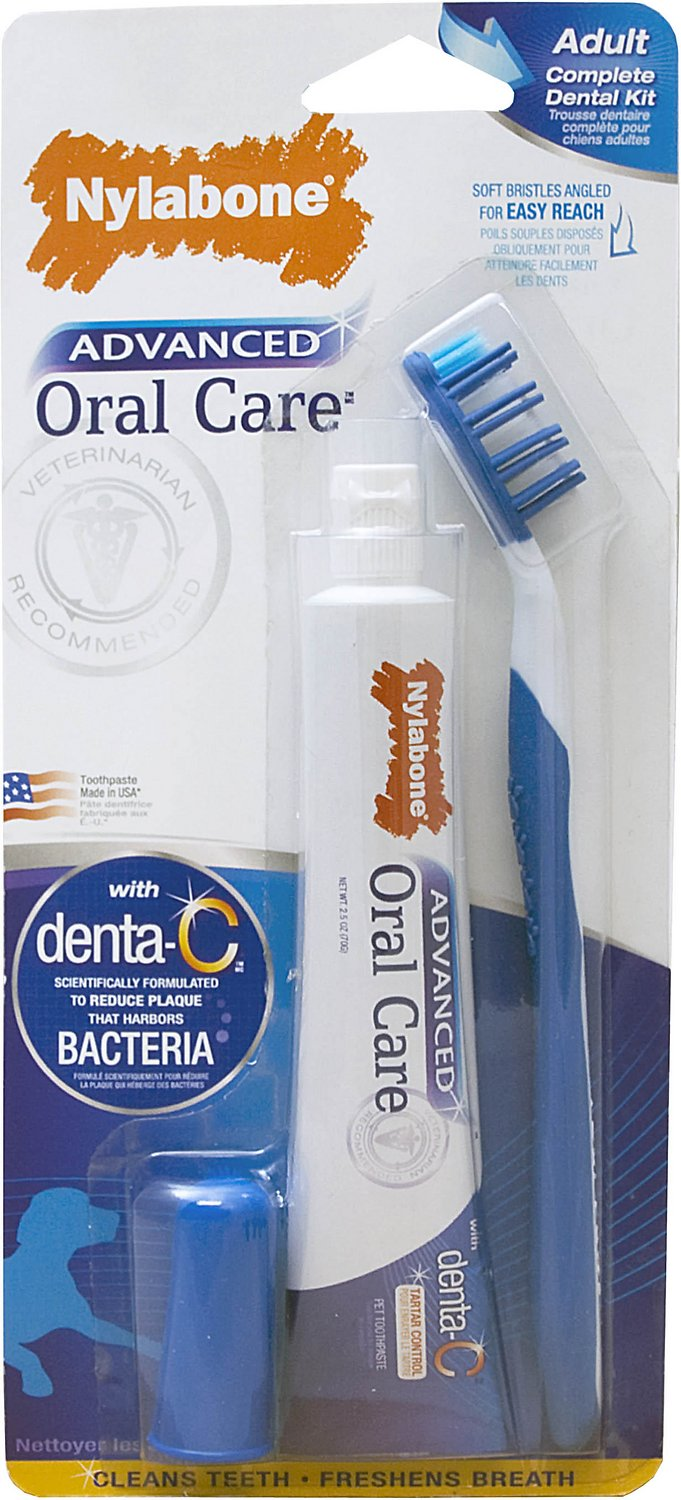 Nylabone Advanced Oral Care Dog Complete Dental Kit
