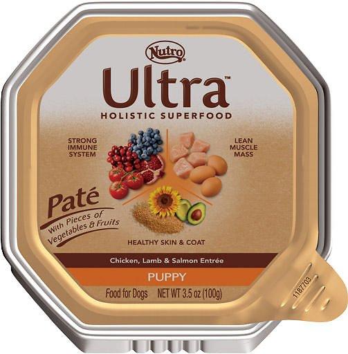 Nutro Ultra Puppy Pate Chicken, Lamb & Salmon Entree Dog Food Trays, 3.5-oz tray