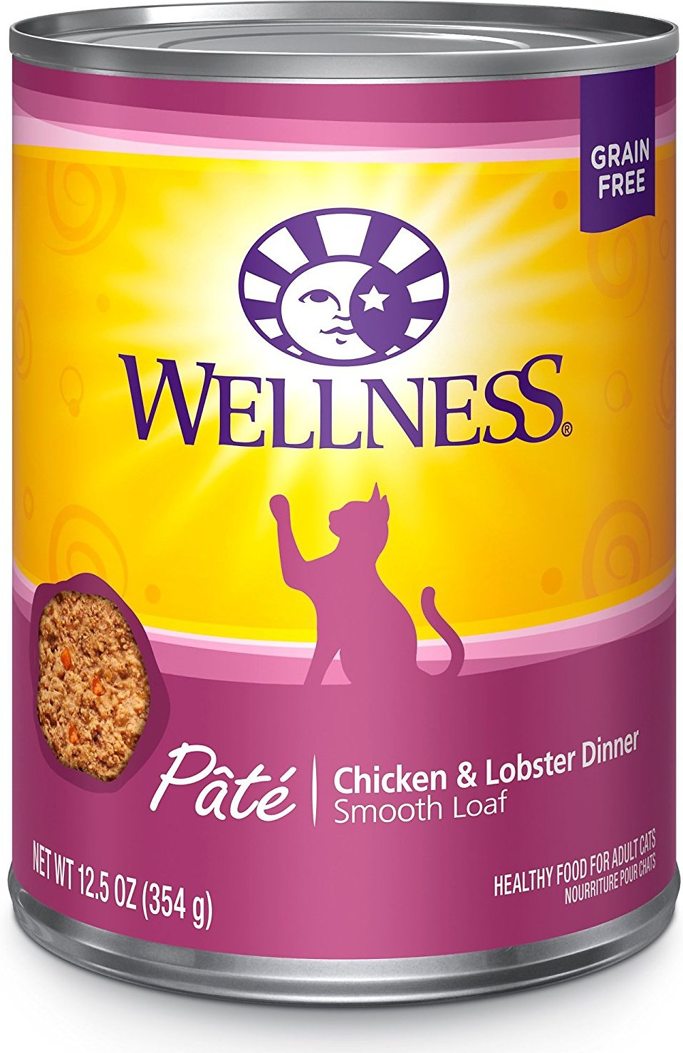 Wellness Complete Health Chicken & Lobster Formula Canned Cat Food, 12.5-oz