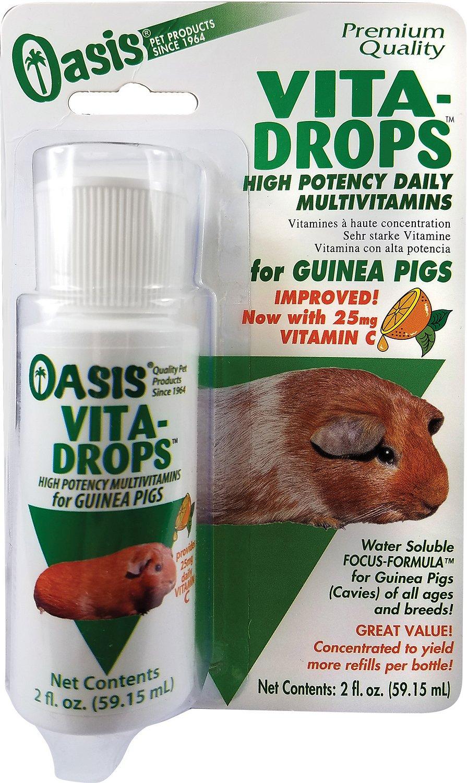 Oasis Vita-Drops Daily Multivitamin Guinea Pig Supplement, 2-oz bottle
