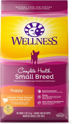 Wellness Small Breed Complete Health Puppy Turkey, Oatmeal & Salmon Meal Recipe Dry Dog Food