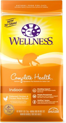 Wellness Complete Health Indoor Health Deboned Chicken & Chicken Meal Recipe Dry Cat Food, 6-lb bag