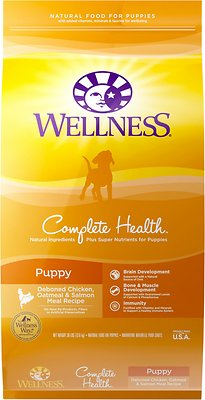 Wellness Complete Health Puppy Deboned Chicken, Oatmeal & Salmon Meal Recipe Dry Dog Food, 30-lb bag