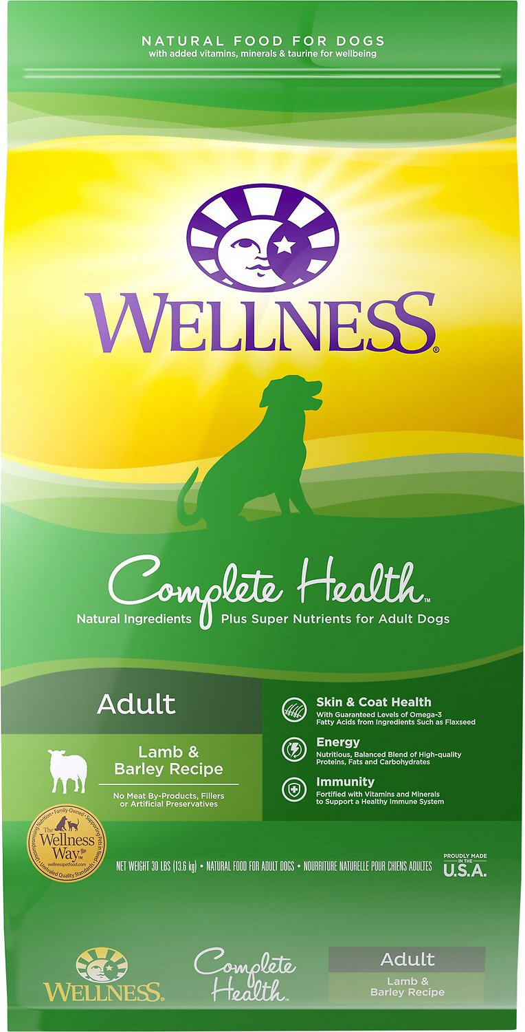 Wellness Complete Health Adult Lamb & Barley Recipe Dry Dog Food Image