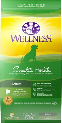 Wellness Complete Health Adult Lamb & Barley Recipe Dry Dog Food, 30-lb bag