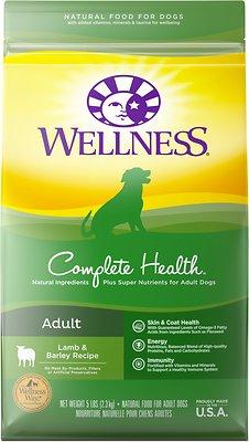 Wellness Complete Health Adult Lamb & Barley Recipe Dry Dog Food, 5-lb bag Weights: 5.0pounds, Size: 5-lb bag