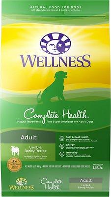Wellness Complete Health Adult Lamb & Barley Recipe Dry Dog Food, 15-lb bag