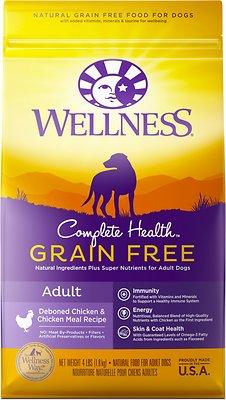 Wellness Grain-Free Complete Health Adult Deboned Chicken & Chicken Meal Recipe Dry Dog Food