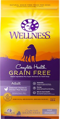 Wellness Grain-Free Complete Health Adult Deboned Chicken & Chicken Meal Recipe Dry Dog Food