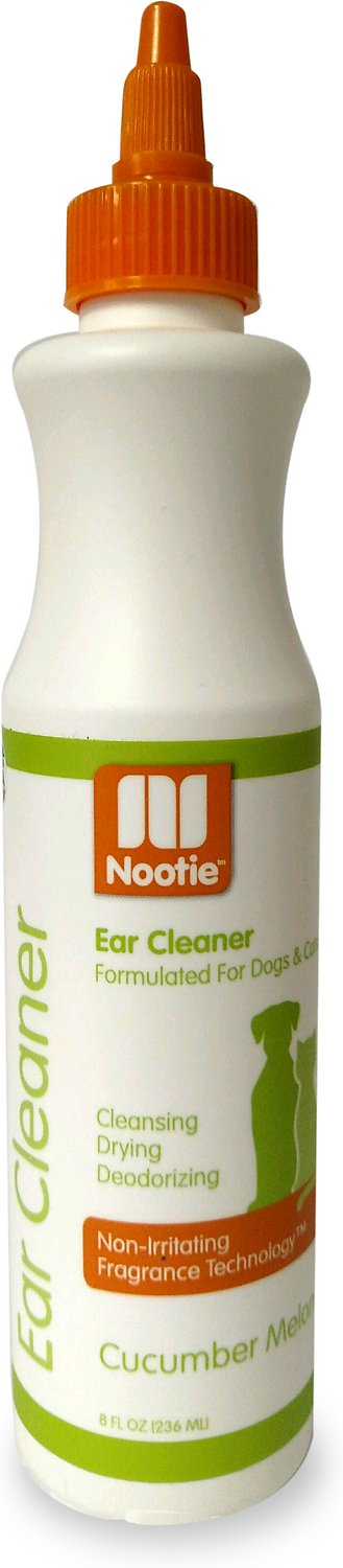 Nootie Cucumber Melon Dog & Cat Ear Cleaner, 8-oz bottle