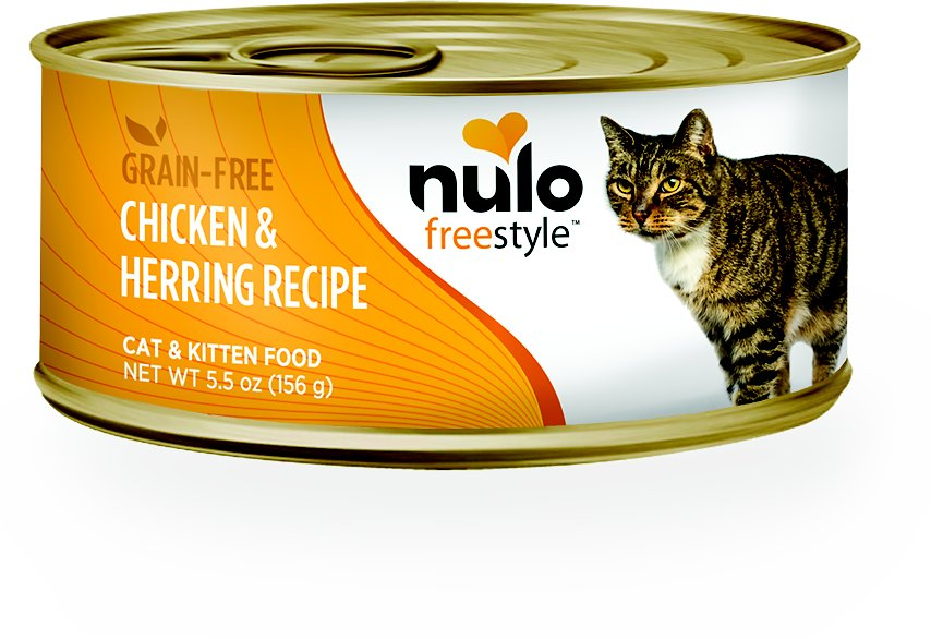 Nulo Cat Freestyle Pate Chicken & Herring Recipe Grain-Free Canned Cat & Kitten Food, 5.5-oz
