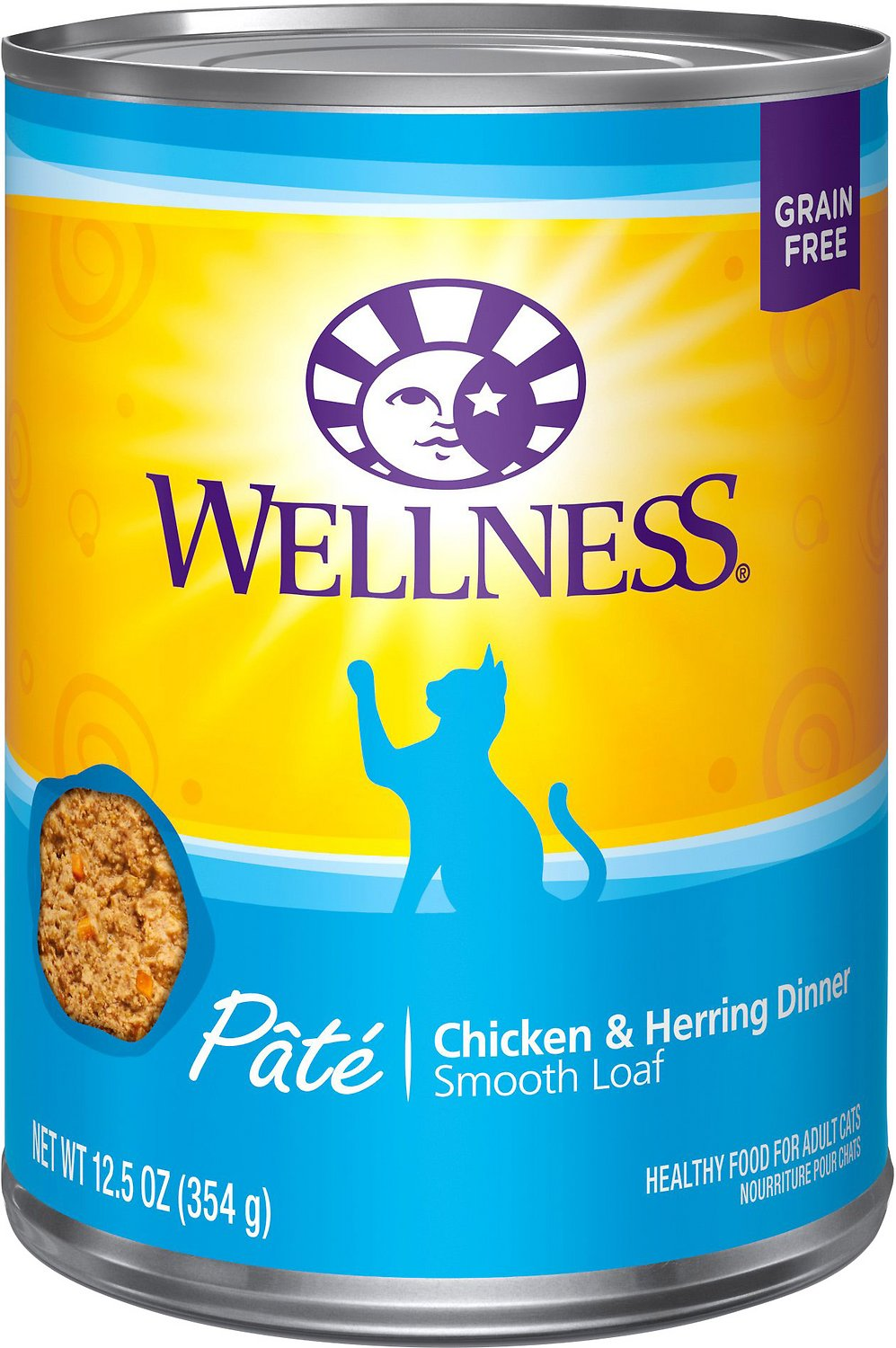 Wellness Complete Health Chicken & Herring Formula Grain-Free Canned Cat Food, 12.5-oz