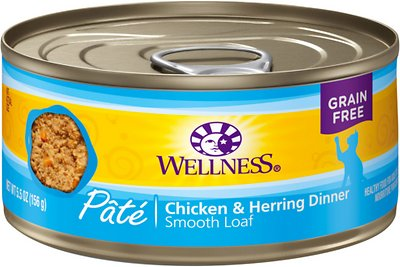 Wellness Complete Health Chicken & Herring Formula Grain-Free Canned Cat Food, 5.5-oz