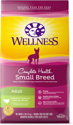 Wellness Small Breed Complete Health Adult Turkey & Oatmeal Recipe Dry Dog Food, 4-lb bag