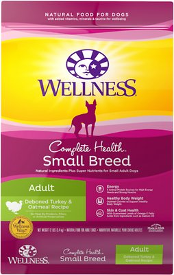 Wellness Small Breed Complete Health Adult Turkey & Oatmeal Recipe Dry Dog Food, 12-lb bag