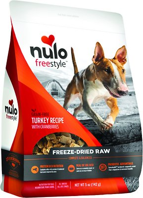 Nulo Dog Freestyle Grain-Free Turkey Recipe With Cranberries Freeze-Dried Raw Dog Food, 5-oz bag