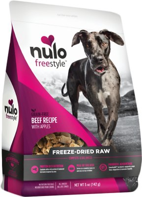 Nulo Dog Freestyle Grain-Free Beef Recipe With Apples Freeze-Dried Raw Dog Food, 5-oz bag