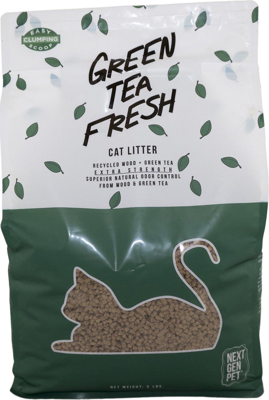 Next Gen Pet Products Green Tea Fresh Cat Litter, 5-lb bag