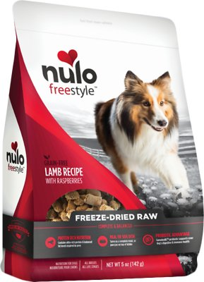 Nulo Dog Freestyle Grain-Free Lamb Recipe With Raspberries Freeze-Dried Raw Dog Food, 5-oz bag