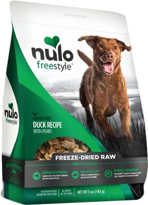 Nulo Dog Freestyle Grain-Free Duck Recipe With Pears Freeze-Dried Raw Dog Food, 5-oz bag