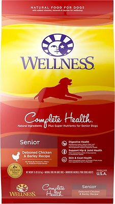 Wellness Complete Health Senior Deboned Chicken & Barley Recipe Dry Dog Food, 15-lb bag