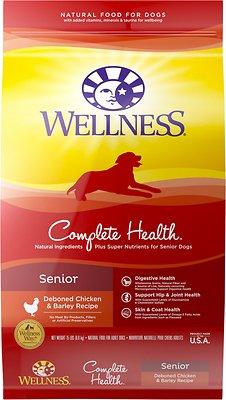 Wellness Complete Health Senior Deboned Chicken & Barley Recipe Dry Dog Food, 15-lb bag