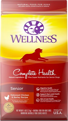 Wellness Complete Health Senior Deboned Chicken & Barley Recipe Dry Dog Food, 5-lb bag