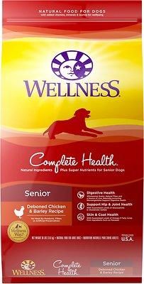 Wellness Complete Health Senior Deboned Chicken & Barley Recipe Dry Dog Food, 30-lb bag