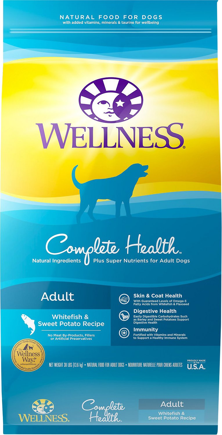 Wellness Complete Health Adult Whitefish & Sweet Potato Recipe Dry Dog Food Image