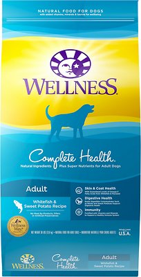 Wellness Complete Health Adult Whitefish & Sweet Potato Recipe Dry Dog Food, 30-lb bag