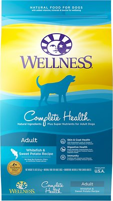 Wellness Complete Health Adult Whitefish & Sweet Potato Recipe Dry Dog Food