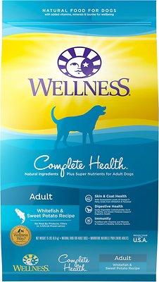 Wellness Complete Health Adult Whitefish & Sweet Potato Recipe Dry Dog Food, 15-lb bag