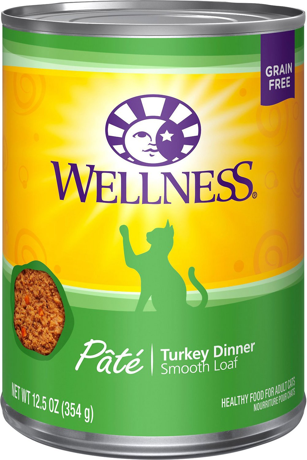 Wellness Complete Health Turkey Formula Grain-Free Canned Cat Food, 12.5-oz