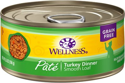 Wellness Complete Health Turkey Formula Grain-Free Canned Cat Food, 5.5-oz