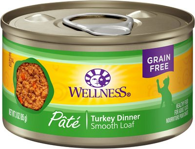 Wellness Complete Health Turkey Formula Grain-Free Canned Cat Food, 3-oz, case of 24