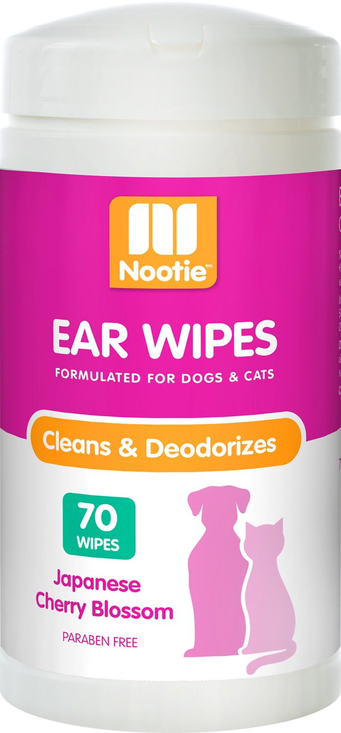 Nootie Japanese Cherry Blossom Dog & Cat Ear Wipes, 70 count