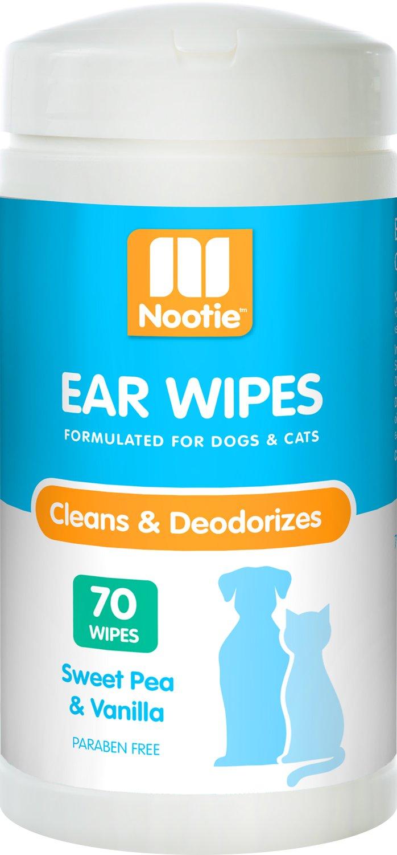 Nootie Sweet Pea & Vanilla Dog & Cat Ear Wipes, 70 count
