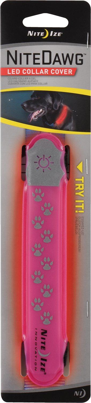 Nite Ize Nite Dawg LED Dog Collar Cover, Pink