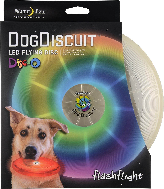 Nite Ize Flashflight Discuit LED Flying Disc Dog Toy