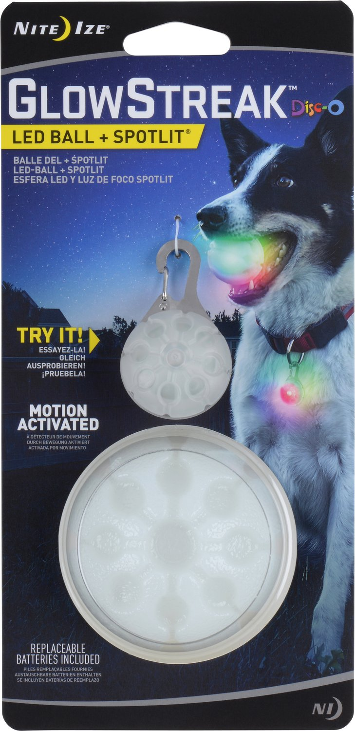 Nite Ize GlowStreak LED Ball + SpotLit Combo, Disc-O