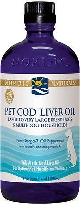 Nordic Naturals Pet Cod Liver Oil Dog Supplement, 16-oz