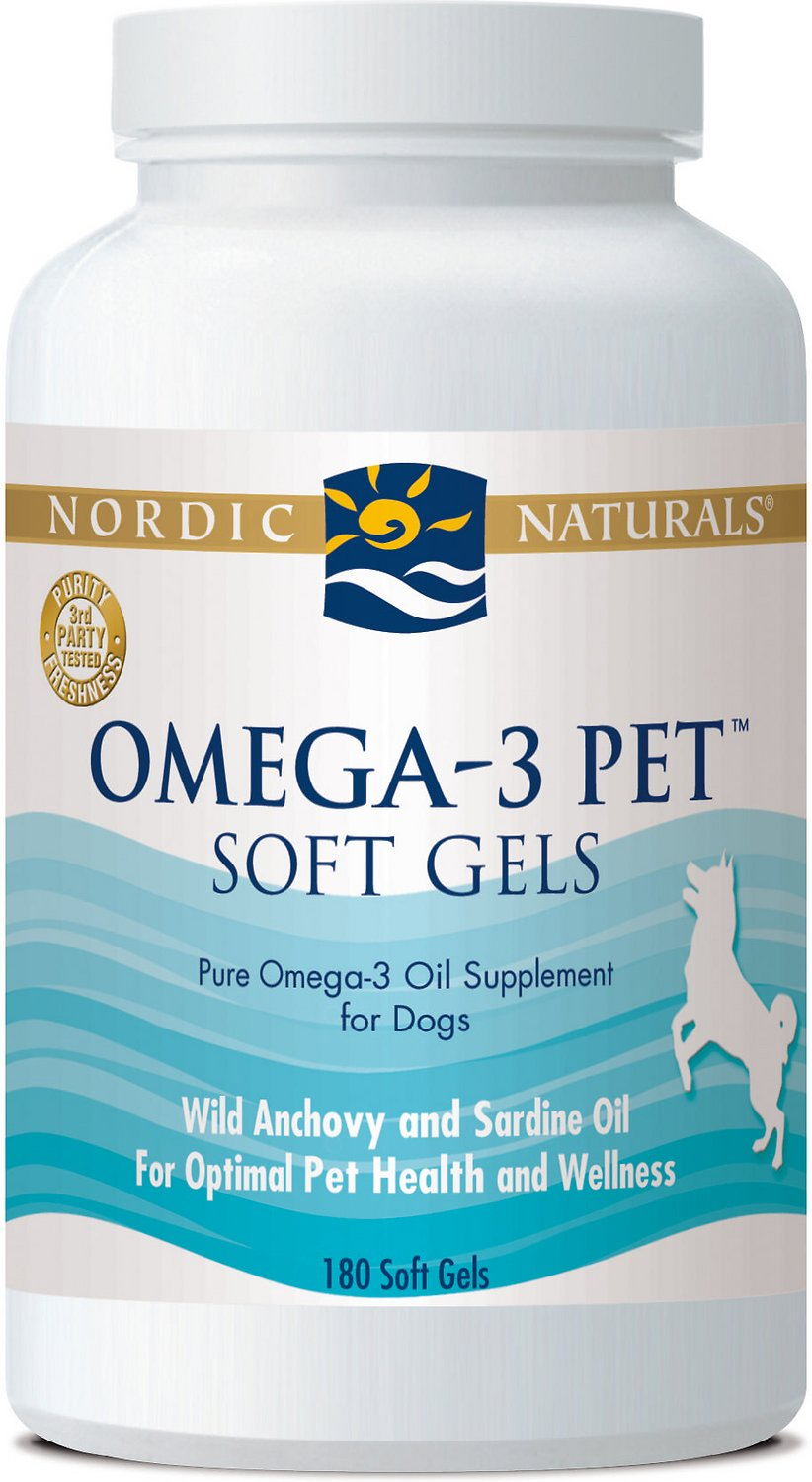 Nordic Naturals Omega-3 Pet Soft Gels Dog Supplement