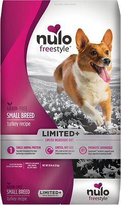 Nulo Dog Freestyle Limited+ Turkey Recipe Grain-Free Small Breed Adult Dry Dog Food, 10-lb bag